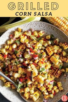 Don't be afraid to get some good char all over the corn for this grilled salsa; that's where a lot of the flavor comes from. We like the look of red jalapeños here, but you can also use green jalapeños (which taste the same) if they're easier to find. Try the citrus-spiked salsa as a dip with tortilla chips or a topper for blackened fish, steak, or chicken. | Cooking Light