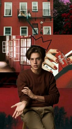 Cole Sprouse    Red Grunge    Aesthetic