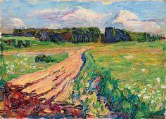 kandinsky munich - planegg 1 One of his first pictures, at this time, highy influenced by Monet and Van Gogh. Kandinsky Art, Wassily Kandinsky Paintings, Russian Painting, Russian Art, Cavalier Bleu, Frieze Masters, Munich, Frieze Art Fair, Matisse