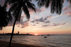 Sunset over Pattaya Beach