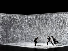 The Movement of Air: A New Dance Performance Incorporating Interactive Digital Projection from Adrien M & Claire B Installation Interactive, Interactive Art, Installation Art, Interactive Projection, Digital Projection, Projection Mapping, Set Design Theatre, Stage Design, Conception Scénique