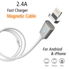 2.4A Fast Charger Magnetic Cable Micro USB Data Cable For iPhone 6 6s Plus 7 7 Plus 5 5s Charging Cable For Samsung Huawei Phone