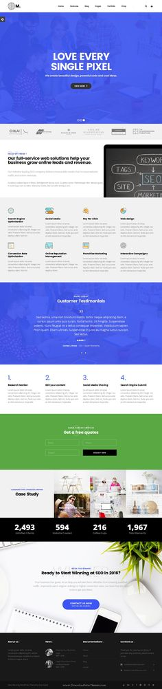 New Morning is Creative Business WordPress Theme for multipurpose website with 10+ niche design layout. #SEO #Marketing #webdesign Download Now!