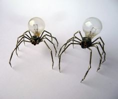 """Justin Gershenson-Gates, """"Spiders Number Five and Six"""", 2012, mechanical sculptures comprised of old watch parts and electronics, approx. 1in x 1in; Justin is a Chicago based designer."""
