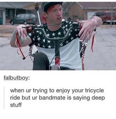 HAHAHAHAHAHAHAHA!!!!!! This is literally so funny.  It's the Stressed Out video by the way.