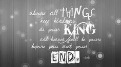 Dave Matthews Band - Above all things keep kindness as your king and heaven will be yours before you meet your end.
