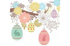 Happy Floral Easter by YenzArtHaut on @creativemarket