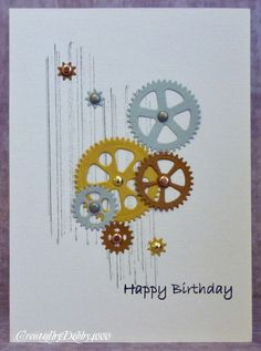 Cool Masculine B-Day card