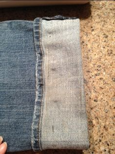 Alter jeans with the original hem: tutorial. I just tried it. Worked great and I'll save at least 16 dollars per pair doing it myself. viaRefashionMama