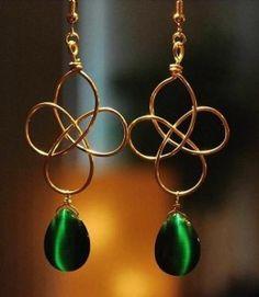Simple and pretty! Handmade Flower Earrings
