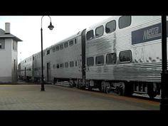 METRA noon train arrives in Joliet, IL