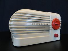 Vintage 1930s Art Deco Old Silvertone Classic Streamlined Bullet Bakelite Radio | eBay