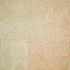 Aboriginal Art by George Hairbrush Tjungurrayi 120x120cm
