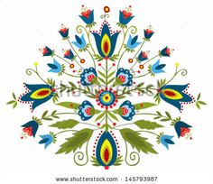 Polish embroidery design - inspiration by Bridzia, via Shutterstock