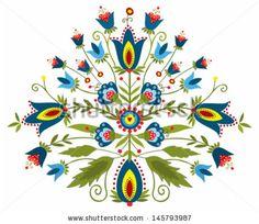 Polish embroidery design - inspiration by Bridzia, via Shutterstock