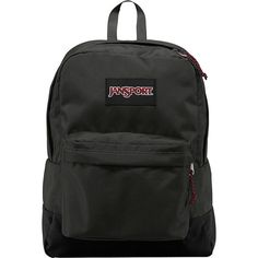 Jansport Superbreak Backpack ($29) ❤ liked on Polyvore featuring bags, backpacks, grey, school & day hiking backpacks, handle bag, gray backpack, jansport rucksack, jansport bags and backpacks bags