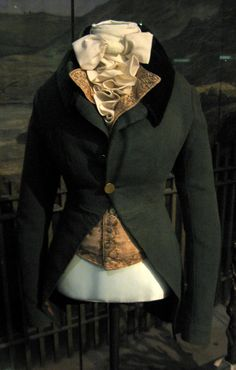 1790 British Woman's Riding Coat and Waistcoat at the Victoria and Albert Museum, London - Or, at least, I think this is a woman's coat. It wasn't labelled as such, but looking at the proportions....