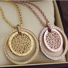 9e97b7315761 Envío gratis Nuevo giro cadena clavícula collar de cadena de acero de  titanio de oro rosa de Circón esmerilado redondo en Collares de cadena de  Joyas y ...
