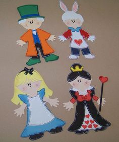 Alice in Wonderland Cricut Paper Dolls