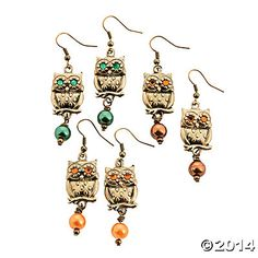 Owl Earring Craft Kits - 6 Pairs Party Supplies Canada & Halloween Supplies Canada - Open A Party