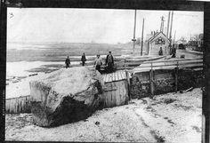 "Newbury, Newburyport, MA ""Joppy""  The clam shacks along Water Street at the basin of the Merrimac River. 1800's."