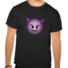Smiling Face With Horns Emoji Tee Shirt
