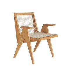 Cat's Cradle Dining Arm Chair – Sutherland Furniture Cat's Cradle, Perennials Fabric, Slipper Chairs, Unique Cats, Dining Arm Chair, Teak, Armchair, Upholstery, Arms