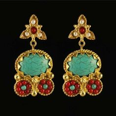 Athena Earrings Turquoise, £29, now featured on Fab.