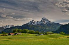 Der Watzmann im #Frühling, #Bayern, #Bavaria