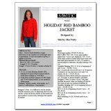 SWTC Holiday Red Bamboo Jacket free knitting pattern