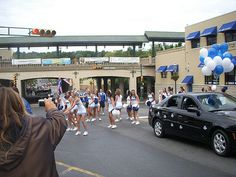 South Orange NJ Cheerleaders during Homecoming Day for SHU