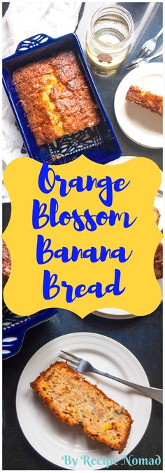 Bite into by far the Best Ever Banana Bread you'll ever make! This Best Ever Banana Bread with Orange Blossom is exactly what a good banana bread should taste like. It has a crunchy top with a moist a (Best Ever) Fun Desserts, Delicious Desserts, Dessert Recipes, Yummy Food, Tasty, Healthier Desserts, Fruit Recipes, Yummy Treats, Brunch Recipes