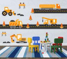 Bau LKW Transport-Wandtattoo von YendoPrint auf Etsy
