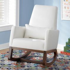 White Leather Rocker