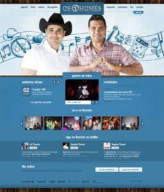 Desenvolvimento do novo site da dupla sertaneja Os Thomés. Agora no escritório da dupla João Carreiro & Capataz, encontram-se divulgando seu novo CD por todo o país.