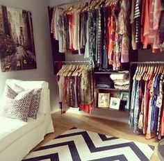 Love this closet! Not enough space tho lol