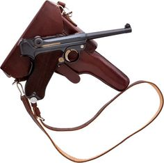 Handguns:Semiautomatic Pistol, Swiss Mauser Model 1906 Luger Semi-Automatic Pistol with Holster. Self Defense Weapons, Weapons Guns, Guns And Ammo, Luger Pistol, Revolvers, Rifles, German Soldiers Ww2, Military Weapons, Cannon