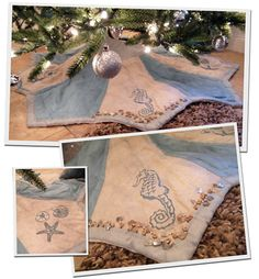 Coastal Christmas Tree Skirt