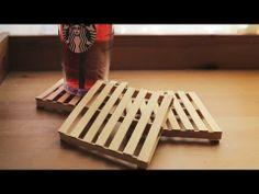 DIY pallet coasters