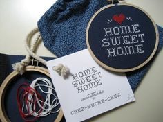 do it yourself xstitch pattern and materials kit by ChezSucreChez, $12.00