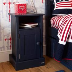 The Charterhouse children's bedside - prussian blue (left hinges) is a beautiful beroom essential for any young boy. Childrens Bedroom Storage, Childrens Desk, Childrens Bedroom Furniture, Navy Blue Furniture, Boys Furniture, Bedside Cabinet, Blue Bedroom, Bed Design, Tooth Fairy