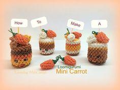 Rainbow Loom Mini Carrot charms - Loomigurumi - Amigurumi Hook Only Лумигуруми - YouTube
