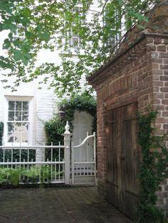brick driveway. charleston