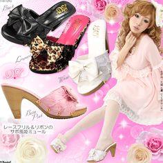 Kawaii shoes, hime gyaru, kawaii fashion, kawaii, gyaru, street style