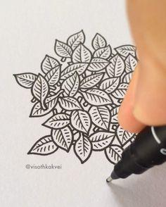 Newest artwork in progress #art #leaves #original #wip