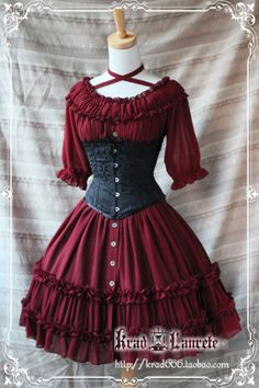 i love this dress. it is a little more lolita than i would usually go for but the ruffles make it look beautiful.