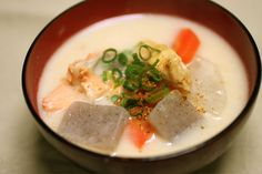 """"""" Warm from the core of the body Kasujir Japanese Soup, Thai Red Curry, Meals, Ethnic Recipes, Junk Food, Core, Foods, Power Supply Meals, Food Food"""