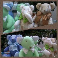Ursinhos em tecidos 100% Algodão