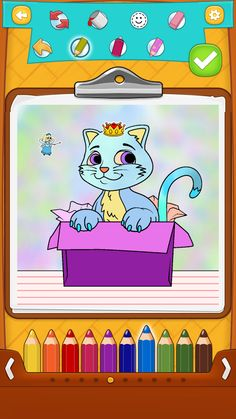 Cat coloring pages for kids with lots of cute cat drawings for kids to color completely free of charge :)