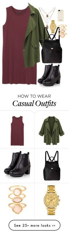 """""""casual fall"""" by stasbb on Polyvore featuring Monki, Dolce&Gabbana, Kate Spade, Accessorize and Lacoste"""